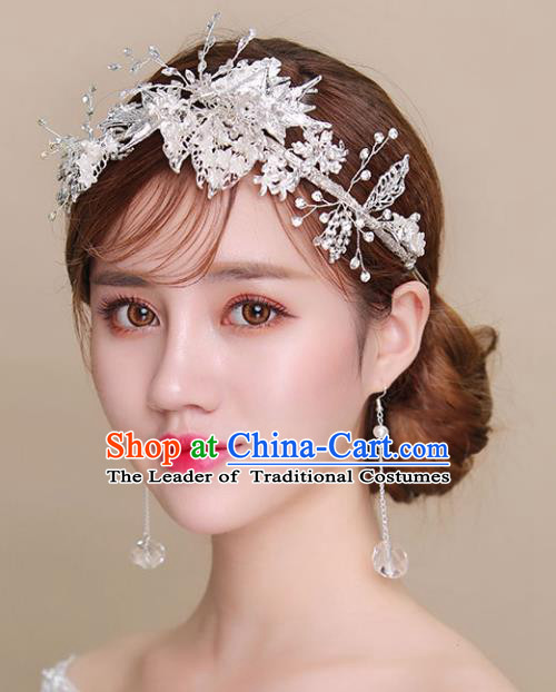 Chinese Traditional Bride Hair Accessories Baroque Princess Wedding Hair Clasp for Women