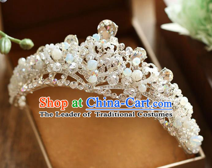 Chinese Traditional Wedding Hair Accessories Baroque Hair Clasp Bride Crystal Royal Crown for Women