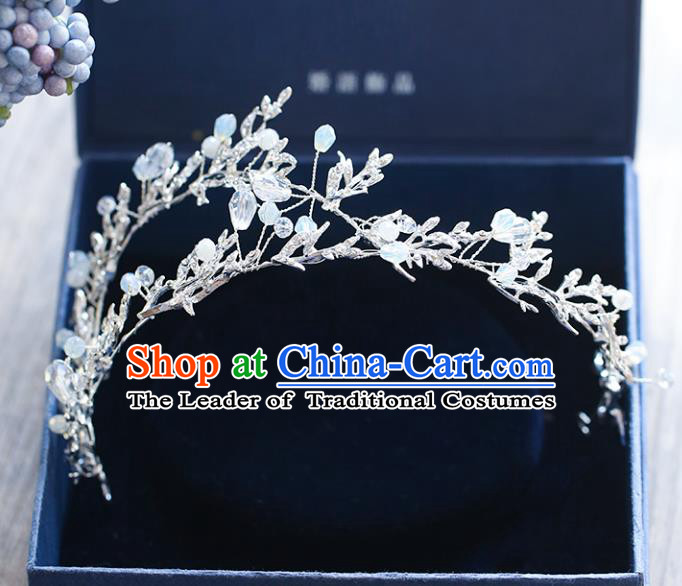 Chinese Traditional Bride Hair Accessories Baroque Princess Wedding Beads Hair Clasp for Women