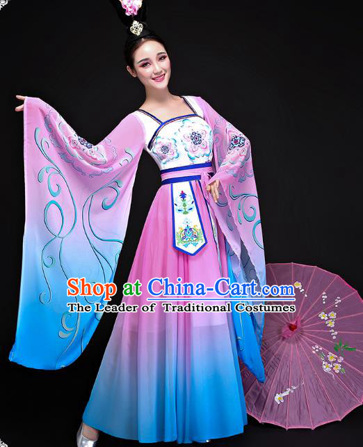 Traditional Chinese Ancient Classical Dance Hanfu Clothing Tang Dynasty Princess Embroidered Costume for Women