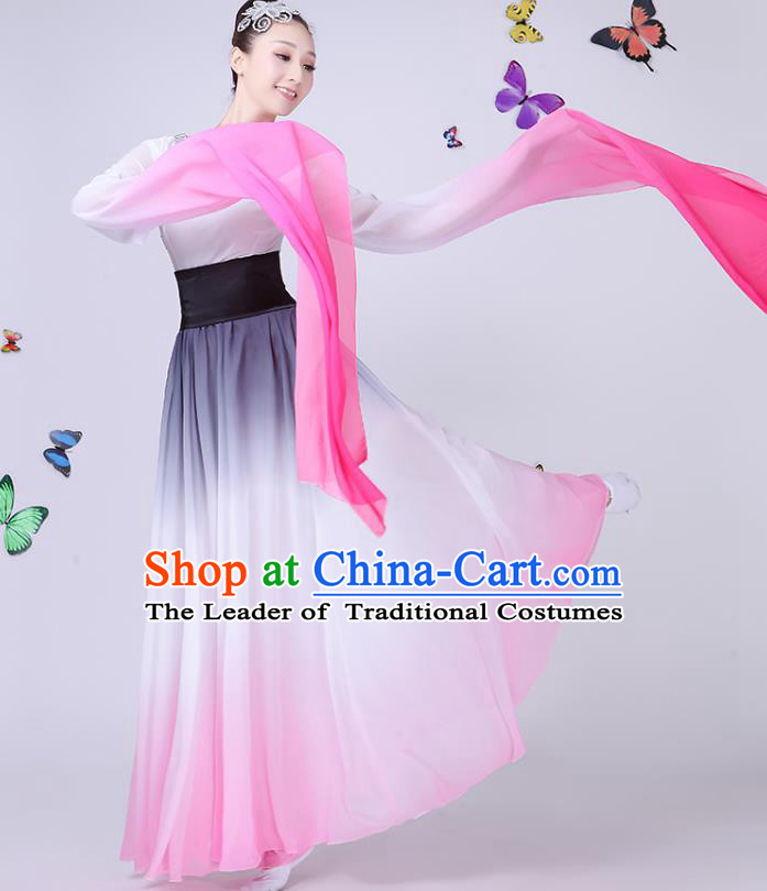 Traditional Chinese Modern Dance Opening Dance Clothing Chorus Folk Umbrella Dance Water Sleeve Dress for Women