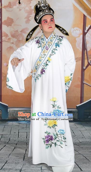 Chinese Beijing Opera Young Men Scholar Embroidered Costume, China Peking Opera Niche Embroidery Clothing
