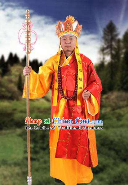 Chinese Beijing Opera Costume Monks Robe, China Peking Opera Tang Monk Cassock Clothing