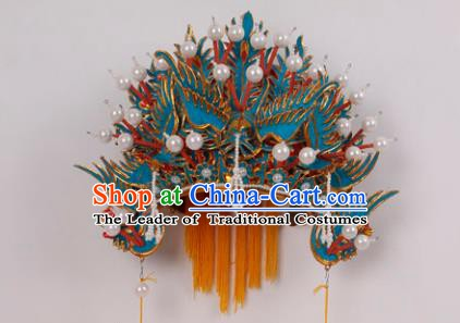 Asian Chinese Beijing Opera Imperial Empress Phoenix Coronet, Traditional China Peking Opera Actress Bride Headwear