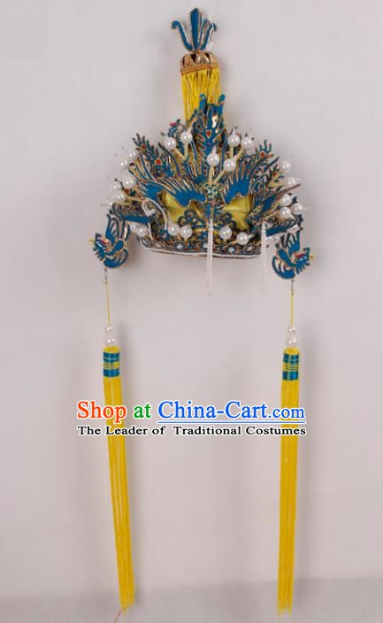 Asian Chinese Beijing Opera Imperial Empress Phoenix Coronet, Traditional China Peking Opera Actress Headwear