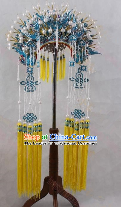 Asian Chinese Beijing Opera Imperial Concubine Hats, Traditional China Peking Opera Queen Phoenix Coronet Headwear
