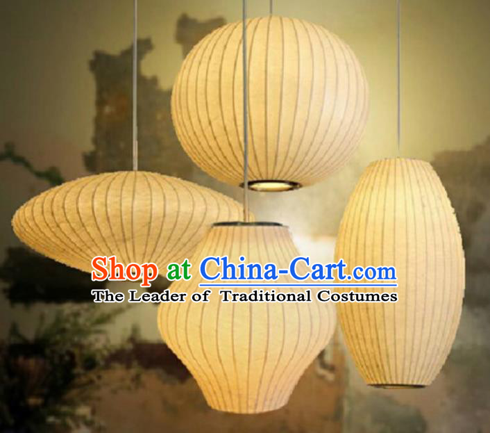 Traditional Chinese Handmade Silk Palace Lantern China Ceiling Palace Lamp Complete Set