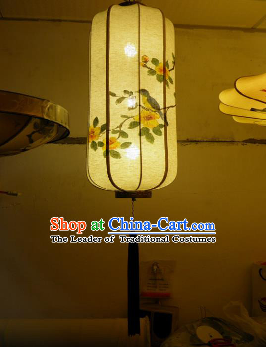 Traditional Chinese Handmade Painting Silk Palace Lantern China Ceiling Palace Lamp