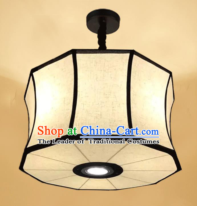 Traditional Chinese Handmade Linen Palace Lantern China Ceiling Palace Lamp