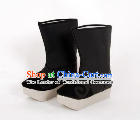 Traditional Chinese Ancient Peking Opera Niche Boots, China Handmade Swordsman Hanfu Embroidery Shoes for Men