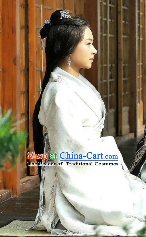 Traditional Ancient Chinese Costume Elegant  Han Dynasty Hanfu Embroidered Clothing-