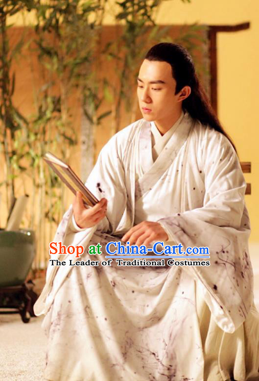 Traditional Chinese Tang Dynasty Prince Scholar Costume, China Ancient Nobility Childe Clothing for Men
