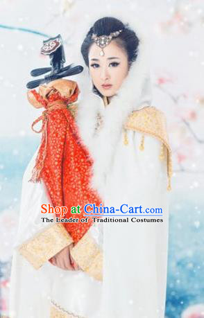 Traditional Ancient Chinese Imperial Consort Costume, Elegant Hanfu Clothing Chinese Han Dynasty Imperial Princess Embroidered Clothing for Women