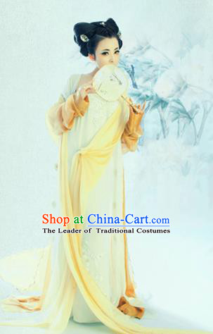 Traditional Ancient Chinese Imperial Consort Costume, Elegant Hanfu Tube Dress Chinese Han Dynasty Imperial Emperess Tube Dress Clothing for Women