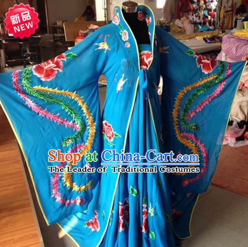 Traditional Ancient Chinese Peking Opera Imperial Emperess Costume Phoenix Robe, Elegant Hanfu Clothing Chinese Tang Dynasty Imperial Emperess Clothing for Women
