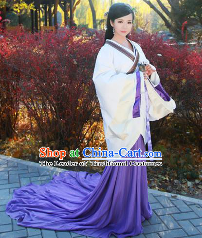 Traditional Ancient Chinese Imperial Consort Costume, Chinese Han Dynasty Noble Lady Dress, Chinese Imperial Princess Hanfu Clothing for Women
