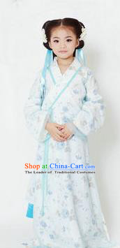 Traditional Ancient Chinese Imperial Princess Children Costume, Chinese Han Dynasty Little Girl Dress, Cosplay Chinese Concubine Hanfu Clothing for Kids