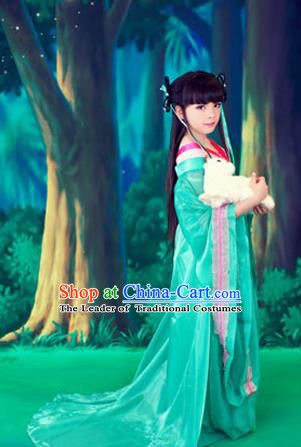 Traditional Ancient Chinese Imperial Princess Children Costume, Chinese Tang Dynasty Little Princess Dress, Cosplay Chinese Princess Embroidered Hanfu Clothing for Kids