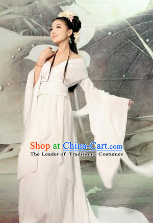 Traditional Ancient Chinese Imperial Emperess Costume, Chinese Tang Dynasty Fairy Dance Dress, Chinese Peri Imperial Princess Painting Hanfu Clothing for Women