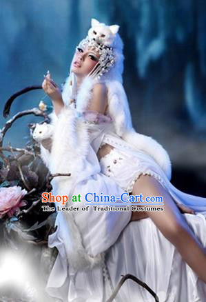 Traditional Ancient Chinese Cosplay Funsbau Costume for Women
