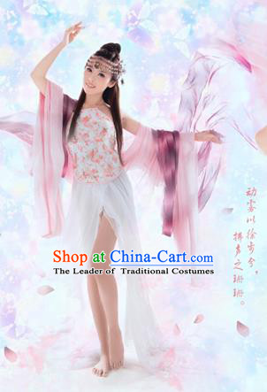 Traditional Ancient Chinese Sexy Female Dance Costume, Hanfu Clothing Chinese Tang Dynasty Bellyband Clothing for Women