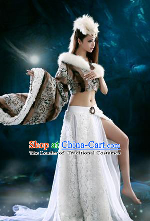 Traditional Ancient Chinese Funsbau Costume, Chinese Han Dynasty Imperial Coquette Tailing Embroidered Elegant Hanfu Clothing for Women