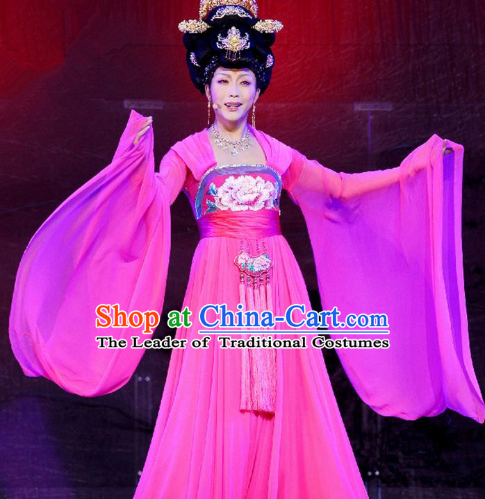 Traditional Ancient Chinese Imperial Consort Costume, Elegant Hanfu Clothing Chinese Tang Dynasty Imperial Emperess Tailing Embroidered Clothing for Women
