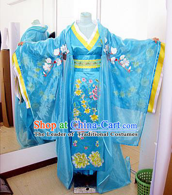 Traditional Ancient Chinese Imperial Empress Costume, Chinese Han Dynasty Lady Queen Dress, Chinese Embroidered Robes Imperial Concubine Clothing for Women