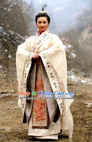 Traditional Top Chinese Ancient Imperial Princess Costume, Elegant Hanfu Dress Chinese Qin Dynasty Imperial Princess Embroidered Clothing for Women