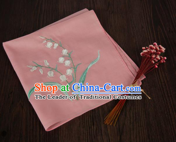 Traditional Ancient Chinese Palace Embroidered Keiskei Peachy Handkerchief for Women