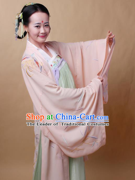 Traditional Ancient Chinese Female Costume Cardigan, Elegant Hanfu Clothing Chinese Ming Dynasty Palace Lady Embroidered Phoenix Wide Sleeve Cappa Clothing for Women