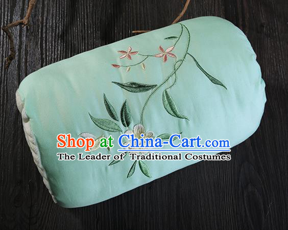 Traditional Ancient Chinese Embroidered Muff Embroidered Gardenia Green Handwarmers for Women