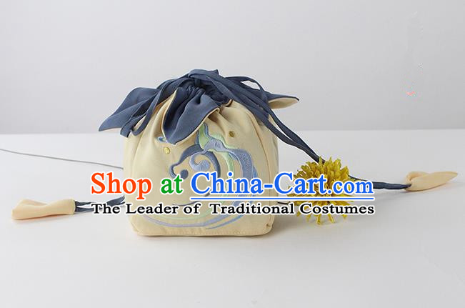 Traditional Ancient Chinese Embroidered Handbags Embroidered Wave Bag for Women