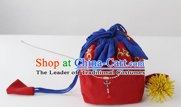 Traditional Ancient Chinese Embroidered Handbags Embroidered Stupa Wreaths All Lines Bag for Women