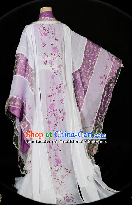 Traditional Asian Chinese Ancient Palace Princess Costume, Elegant Hanfu Dance Dress, Chinese Imperial Princess Tailing Embroidered Clothing, Chinese Fairy Empress Queen Cosplay Costumes for Women