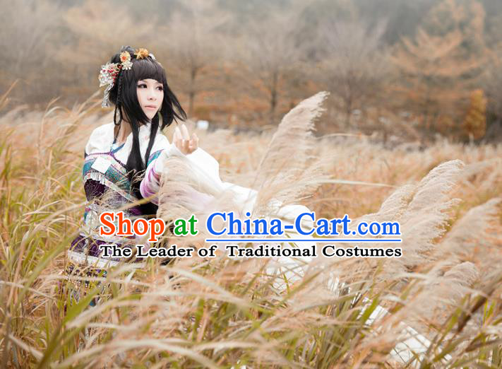 Traditional Asian Chinese Princess Costume, Elegant Hanfu Dance Dress, Chinese Imperial Princess Tailing Embroidered Clothing, Chinese Fairy Princess Empress Cosplay Costumes for Women