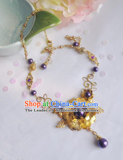 Traditional Handmade Chinese Ancient Classical Accessories Pearl Necklace for Women