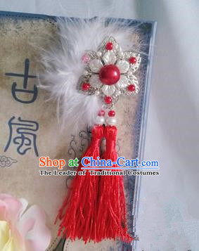 Traditional Handmade Chinese Ancient Classical Accessories Tassel Brooch for Women