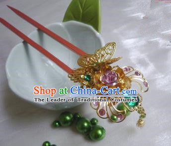 Traditional Handmade Chinese Ancient Classical Hair Accessories Wooden Hairpins for Women