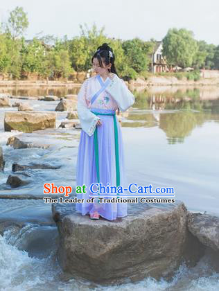 Traditional Ancient Chinese Female Costume Cardigan Colorful Butterfly Blouse and Dress Complete Set, Elegant Hanfu Clothing Chinese Ming Dynasty Embroidered Palace Princess Clothing for Women