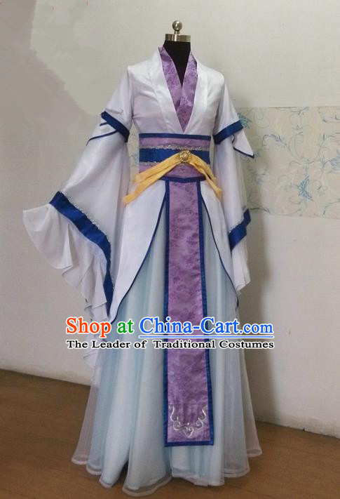 Traditional Ancient Chinese Imperial Prince Costume Complete Set, Elegant Hanfu Nobility Childe Robe, Chinese Swordsman Cosplay Tailing Embroidered Clothing for Men