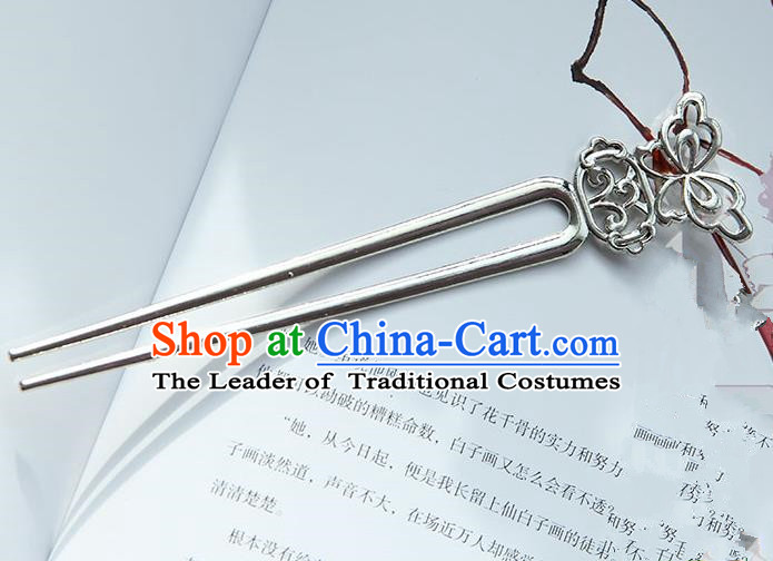 Traditional Handmade Chinese Ancient Classical Hanfu Hair Accessories, Hair Sticks Hair Jewellery, Hair Fascinators Silver Butterfly Hairpins for Women