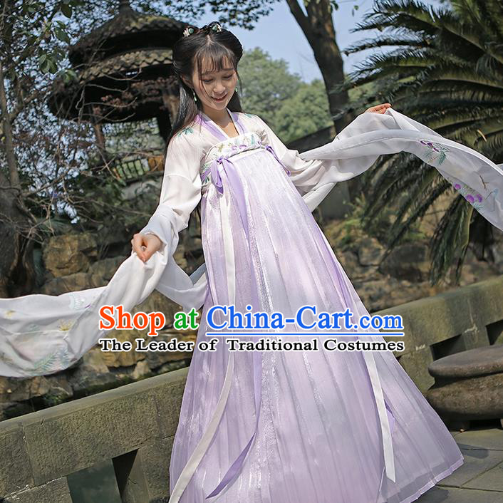 002a7de76 Traditional Ancient Chinese Female Costume Embroidered Albizia Flowers Dress,  Elegant Hanfu Clothing Chinese Tang Dynasty Embroidered Palace Princess  Dress ...
