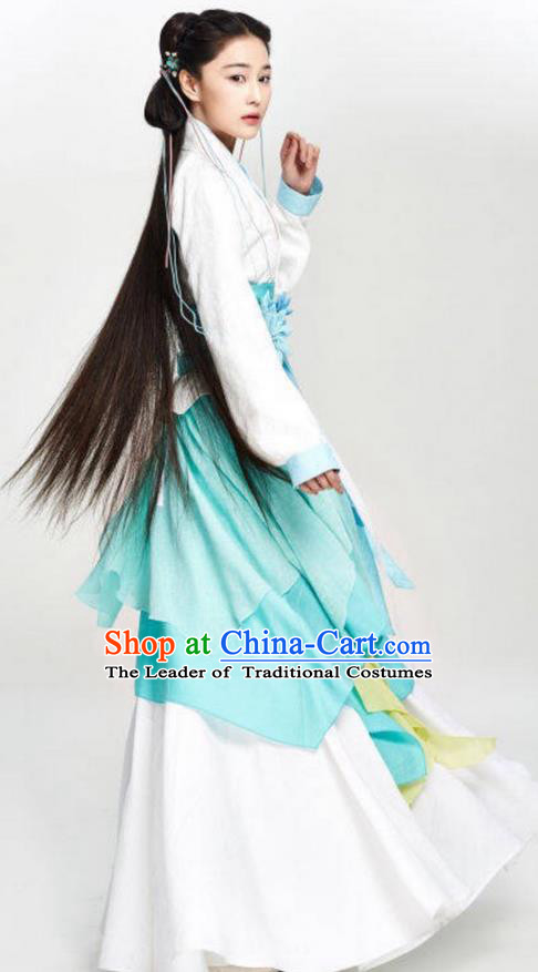 Traditional Ancient Chinese Imperial Princess Costume, Elegant Hanfu Palace Lady Dress Han Dynasty Imperial Princess Embroidered Clothing for Women