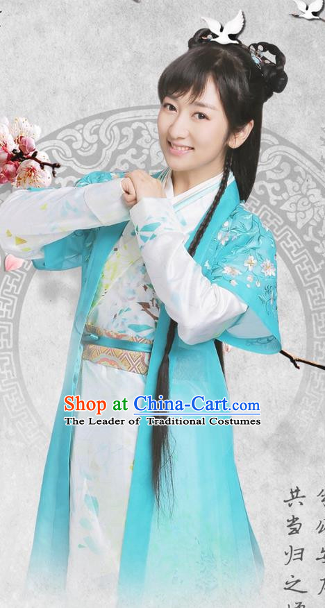 Traditional Ancient Chinese Imperial Princess Costume, Elegant Hanfu Palace Princess Dress, China Han Dynasty Imperial Young Lady Embroidered Clothing for Women