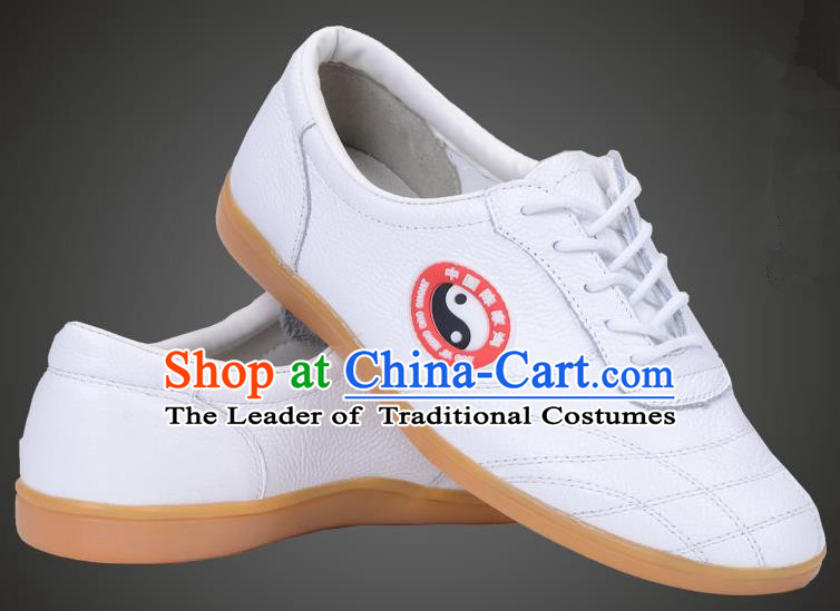 Traditional Chinese Top Flax Kung Fu Shoes Martial Arts Kung Fu Training White Shoe, Tang Suit Gongfu Shaolin Wushu Tai Chi Taiji Teacher Shoes for Women
