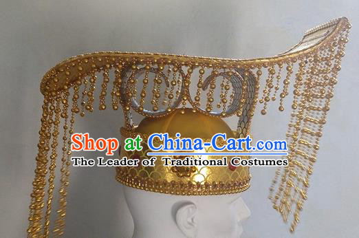Traditional Ancient Chinese Classical Peking Opera Props Peking Opera Headwear Royal Hat