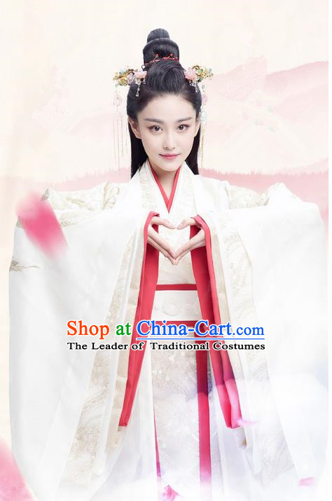 Traditional Ancient Chinese Imperial Consort Costume, Elegant Hanfu Palace Lady Dress, Chinese Warring States Period Imperial Princess Tailing Embroidered Clothing for Women