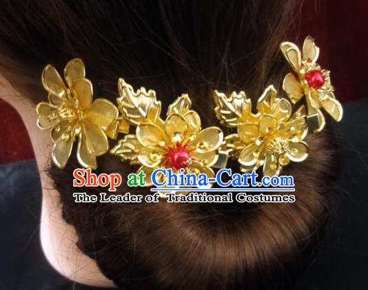 Traditional Handmade Chinese Ancient Classical Hair Accessories Barrettes Wedding Hairpin, Imperial Emperess Hair Jewellery, Hair Fascinators Hairpins for Women