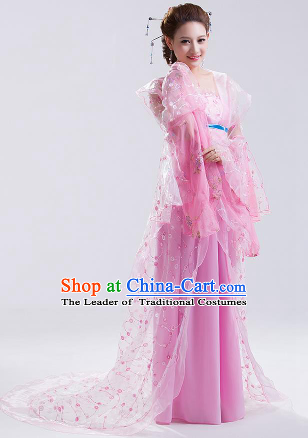 Traditional Ancient Chinese Imperial Emperess Costume, Chinese Wedding Dress, Cosplay Chinese Peri Imperial Princess Tailing Clothing Hanfu for Women